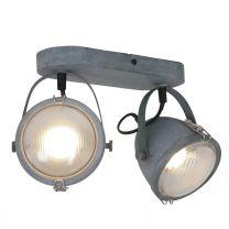 Wandlamp Paco Industrieel Grijs / Wit 1312GR 2x7W 2x480LM