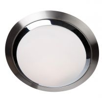 Plafondlamp Ceiling and wall Modern Staal / Wit 1366ST 18W 1440LM