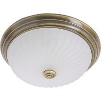 Plafondlamp Ceiling and wall Klassiek Brons / Wit 2779BR 2x60W