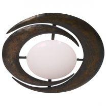 Plafondlamp Ceiling and wall Klassiek Wit / Bruin 6183B 2x40W