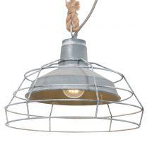 Hanglamp Dina Landelijk Grijs / Bruin 7776GR 60W
