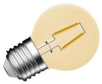 P45 Filament Gold 1.2W E27 2000K PingPong Flame Mellow Kooldraad