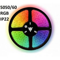 LED Strip IP22-24V 5 Meter 5050/60 10MM RGB