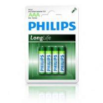 Philips R03 Longlife 1,5V potlood 4 x AAA