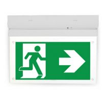 Surface LED 4 Watt emergency fixture M-maintained ST-testbutton 3 hours battery IP20