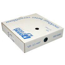 VD Draad 2.5mm2 Blauw 100meter Donne