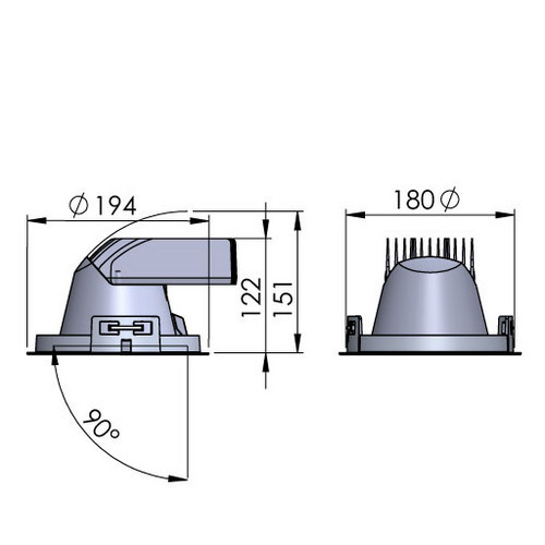 Maatvoering Lival Lean Downlight