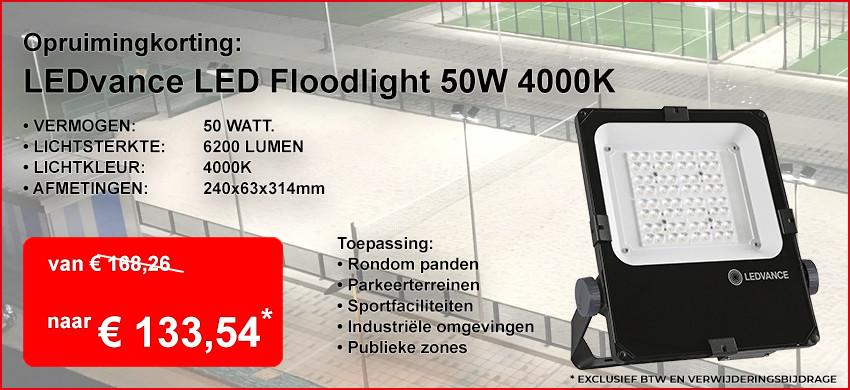 Opruiming: LEDvance Floodlight Performance 50W 4000K