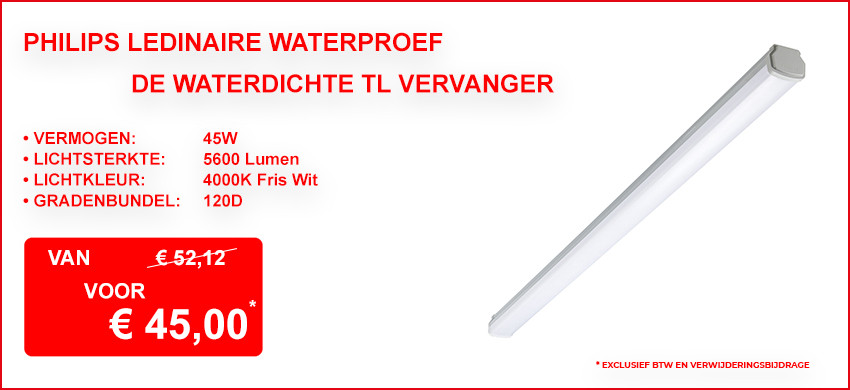 Philips Ledinaire Waterproof TW1 46W 4000K 5600lm Grijs 120D IP66