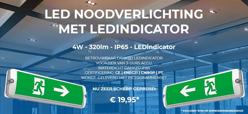 LED Noodverlichting Waterdicht 4W 320LM IP65 LEDindicator
